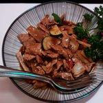Menü Szechuan und mit Schwein