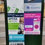 Husk at betale for parkering inden du spiser - koster 8 kr. i timen