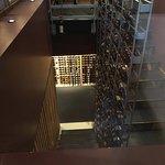 The impressive wine cellar
