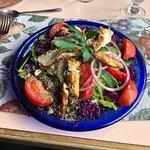 Blackened Chicken Breast On Greek Salad