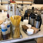 Weird but functional spaghetti strands used as coffee stirrers