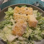 Caesar salad with yummy croutons