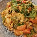Teryaki-Gemüse auf Reis
