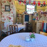 Delightful interior with a good choice of cakes and more
