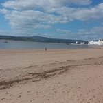 Exmouth beach in the spring.