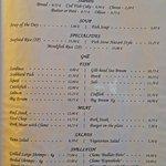 O Tamanco's English menu
