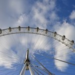 The london eye from the ground