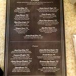 Brunch menu for the 1886 Cafe & Bakery