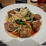 Pork belly with nuoc cham apple salad & caramelised chilli dressing