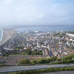 The 18-mile long arc of Chesil Bank stretches from Portland alll the way to Bridport Harbour
