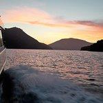 Sunset in the Mahaua Sound Marlborough