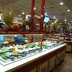 The salad bar is always popular