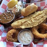 Fired Catfish with Onion Rings