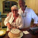 Freshly made birthday cake Geraldine
