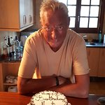 Freshly made birthday cake Martin
