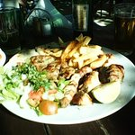 A large mixed grill