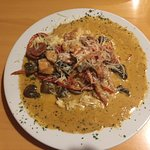 Shrimp and grits - rich and tasty