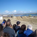 Every October Weymouth Beach is turned into a race course for motorcycles!