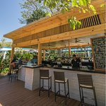 Enjoy food and drinks on our deck at The Garden Bar