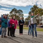 Destination Town Guided Walking Tour of Port Augusta. Discussing the wharf history and the renewables developments.