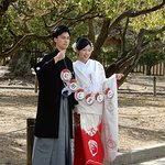 Wedding couple in traditional dress