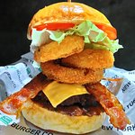 Onion Ring Bacon Cheese Burger