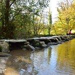 Tarr steps bathed in autumn sunshine