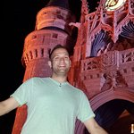 Me outside Cinderella's Castle at Disney World