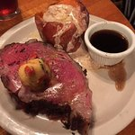 Excellent Prime Rib & Baked Sweet Potato