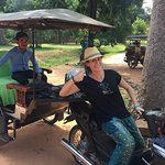 customers from Spain visited Siem Reap, Angkor and took Angkor tour, We were very enjoy trip tuk