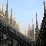 flying buttresses and spires