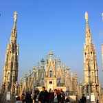 spires above main façade