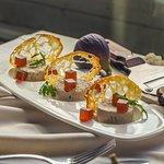 Rabbit pate with wine figs and marmalade with truffle oil. Нежное пате из кролика с инжирно-винным мармеладом и трюфельным маслом.