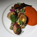 Fairytale Eggplant (Jimmy Nardello pepper, oat tabbouleh)