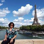 Día precioso foto desde uno de los puentes del Sena