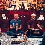 Patrick and Gosto hosting Kirtan event at the yoga studio