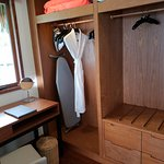 Changing room in the King Overwater Bungalow
