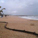 Golden sand on Praia da Quarteria