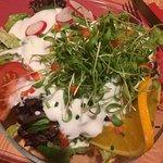 Salat (bitte die Orangenscheibe weglassen!!!)