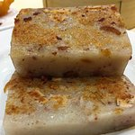 Pan fried taro root cake
