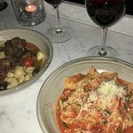 Beef cheek gnocchi and Pappardelle al ragú