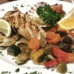 Meeresfrüchte mit gemüse