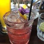 Plum gin cocktail