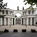 the monumental gate by architect Plečnik