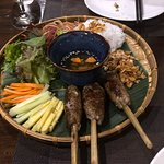 Pork in Sugarcane was a terrific medley of flavors wrapped together and dipped - a great ensemble of tastes!