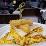Breakfast Quesadilla - one of our many rotating hot breakfast items.