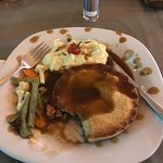 Pie and mash much needed so if you want something normal for a change this hit the spot was amazing we were there 32 days and after 3 weeks of trying lots of different food I craved mash, not many reasarants do mash it was lovely