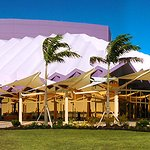 Shell shaped Performing Arts Concert Hall overlooking Sarasota Bay