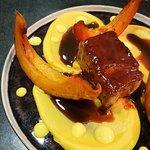 Poitrine de cochon, butternut et potimarrron