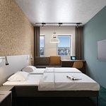 Spacious and comfortable standard room.